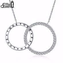 Effie Queen 2017 New Arrival Women Pendant Necklaces The New Crystal Necklace All-match Female Long Chain Necklace Jewelry DN128