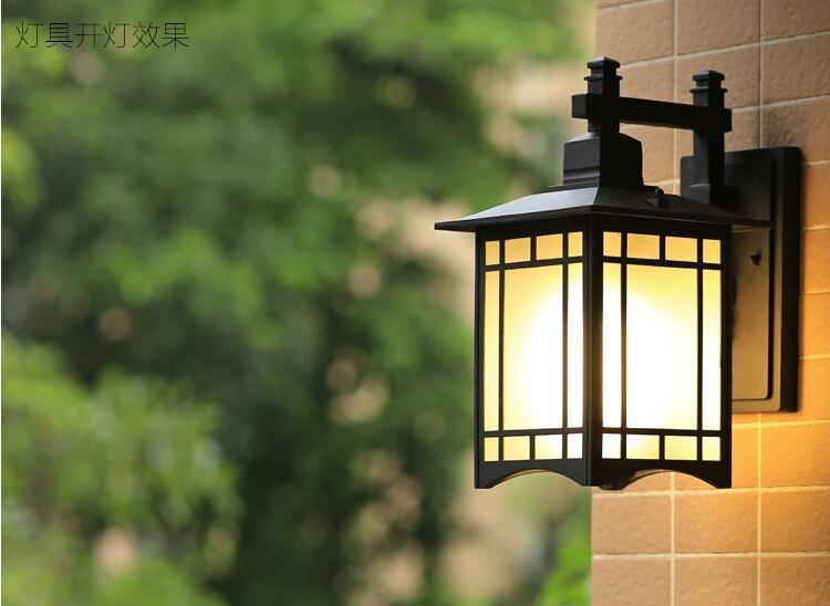 Lanterna Parete Esterno : Stile cinese muro royal lanterna lampada da esterno giardino