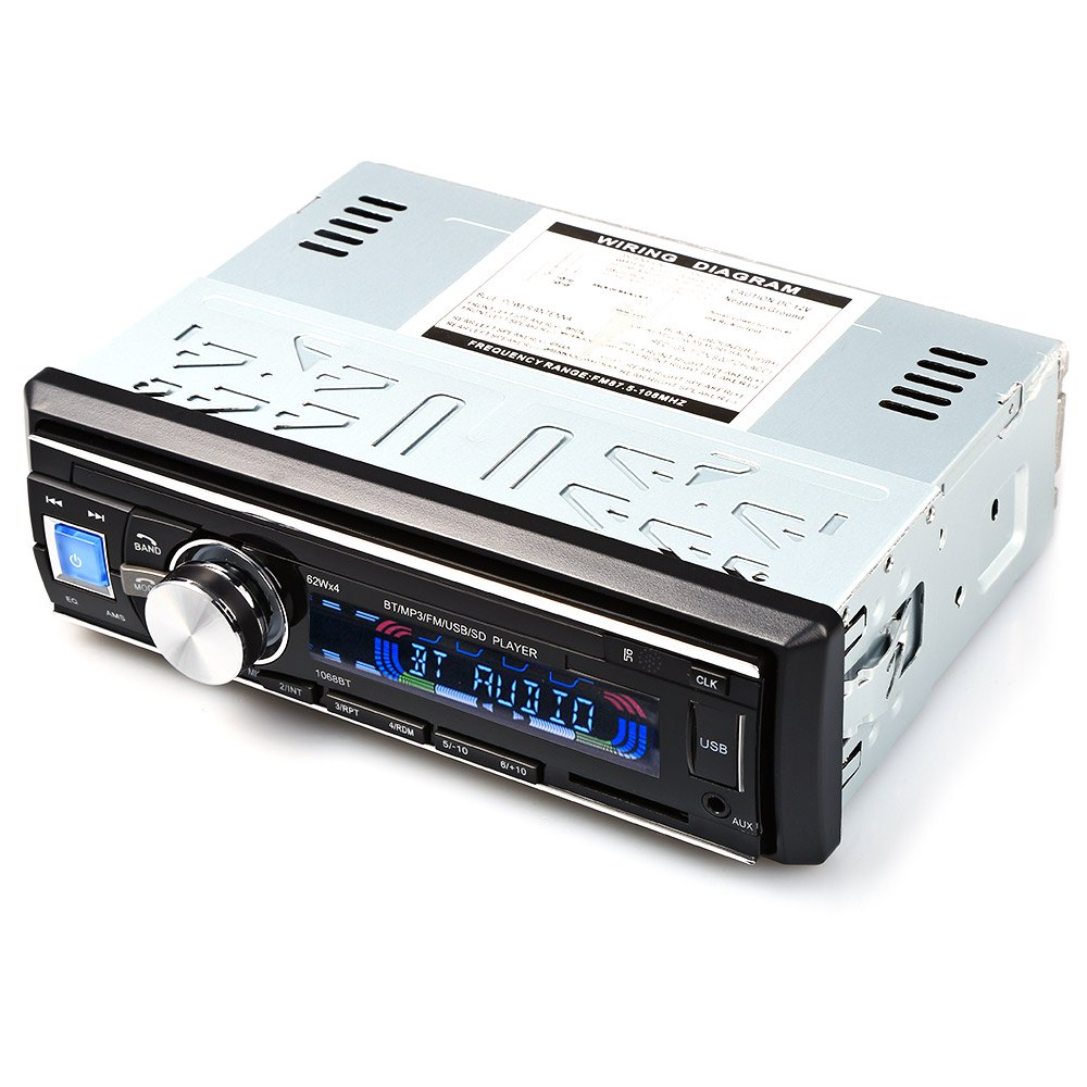 Buy Hot Sale Car Radio 1068 Stereo Player Bluetooth Subwoofer Wiring Diagram 8 Inch Audiobahn For Phone Aux Mp3 Fm Usb 1 Din Remote Control Iphone 12v Audio Electronics From