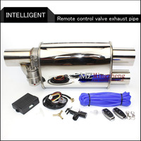 2.5 Exhaust System Stainless Steel Electric Exhaust CutOut Valve With Electronic Remote Control Switch Muffler exhaust pipe