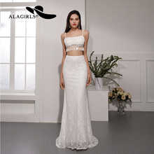 Alagirls 2019 New Arrival Beach Wedding Dress Lace Mermaid Gowns 2-Piece Bridal Sexy Dresses