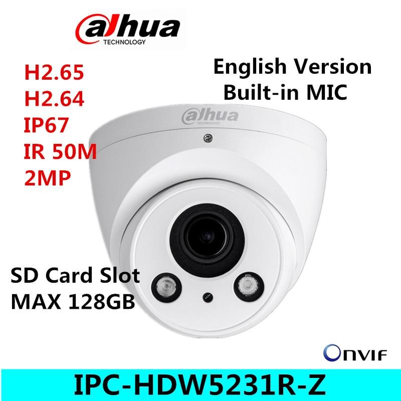 IPC-HDW5231R-Z IPC-HDW5231RP-Z Dahua 2MP WDR IR Eyeball IP Camera 2.7mm-12mm motorized lens Starlight Network Camera dahua 2 7mm 12mm motorized lens 2mp wdr ir eyeball network camera ipc hdw5231r z free dhl shipping