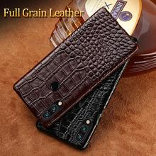 100% Genuine Leather Phone case For Huawei p smart luxury Crocodile Grain Covers for Huawei Cases for Honor 8X New Hot for huawei 100