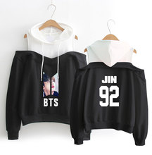 Unique BTS Off-shoulder Hoodie [All Members]