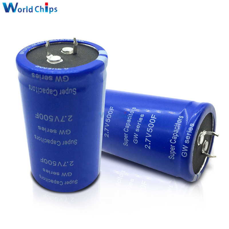 1pcs Super Farad Capacitor 2.7V 500F Fits Car Rectifier Can Stereo//speaker 35*60