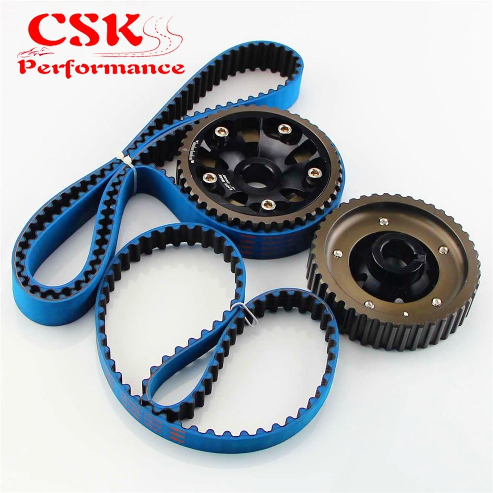 Adjustable Black Cam Gears W Timing Belt Fits For Honda Prelude H22 Dohc Vtec 93 01 Red Blue On Alibaba Group