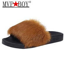 Mvp Boy New Winter Indoor Slippers Plush Home Shoes Fashionable anti - skid resistant flat hair slippers lady shoes 35-40+
