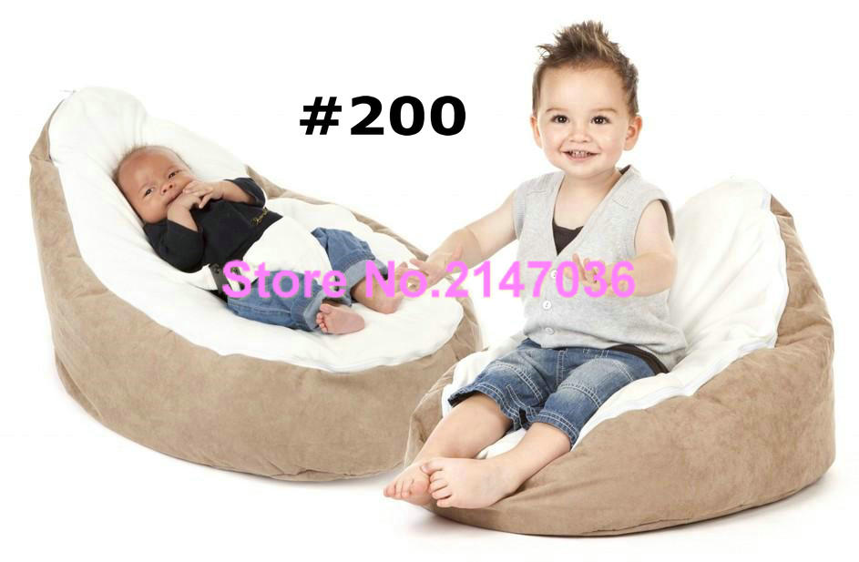 Charmant Brown Base With Cream Seat Bean Bag Chair 2 Tops Cover Kids Sleeping Beanbag  Sofa Seat In Living Room Sofas From Furniture On Aliexpress.com | Alibaba  Group