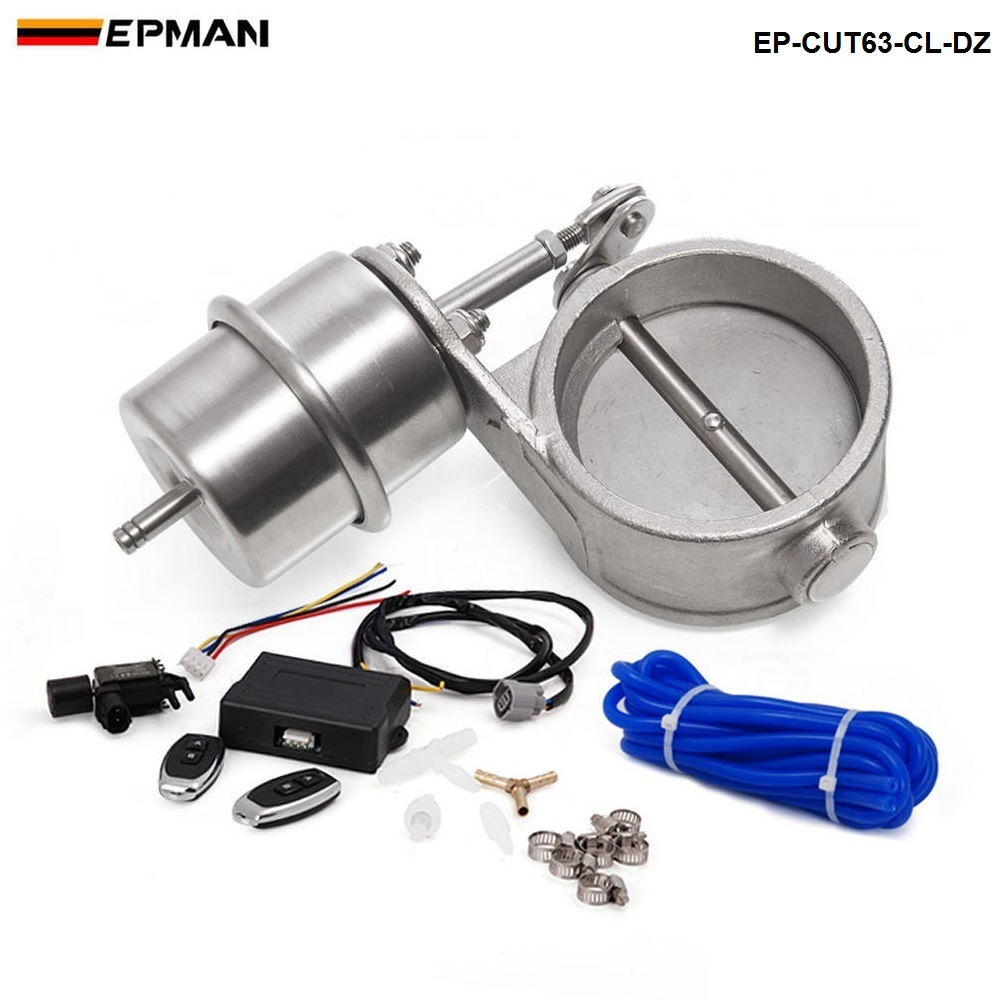 Exhaust Control Valve Set With Vacuum Actuator CUTOUT 2 5 63mm Pipe CLOSE STYLE with Wireless
