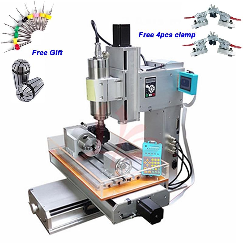 2.2KW 1.5KW 4 axes Vertical CNC routeur 3040 Machine de gravure boule vis Table colonne Type métal fraiseuse
