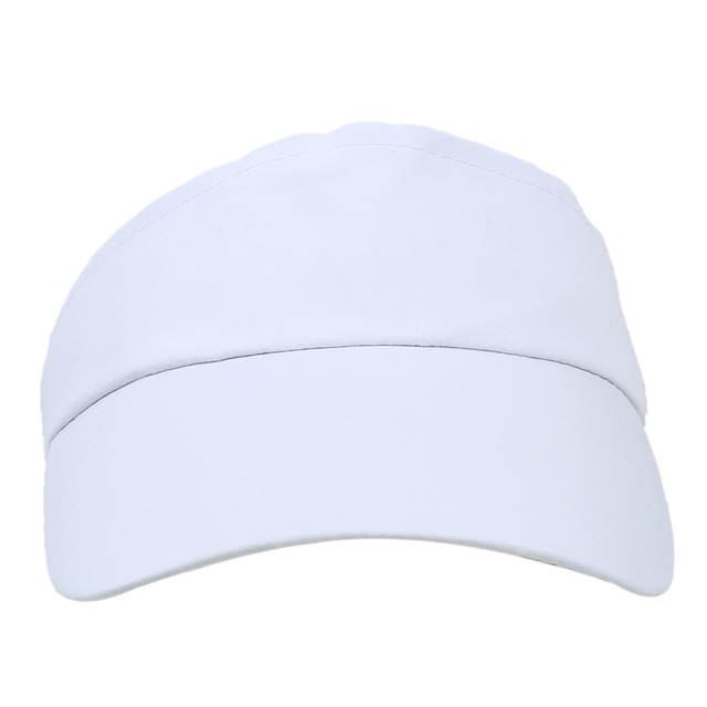 707e8ee310b White Sun Sports Visor Hat Cap Tennis Golf Sweatband Headband UV Protection