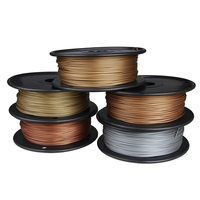 20% Percent Metal +80% PLA 3d printer filament 0.5Kg Metal PLA Filament 1.75mm Brozne Aluminium Copper impressora 3d filamento
