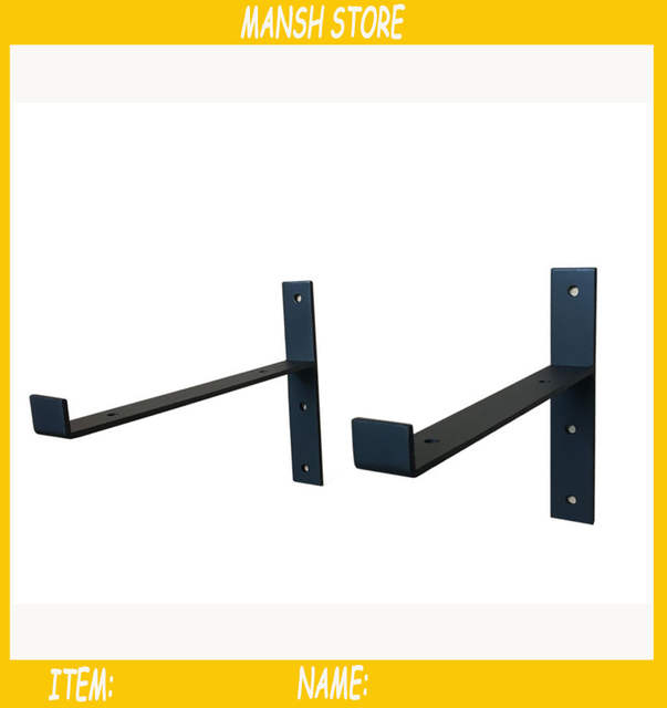 Staffe Per Mensole In Ferro.Online Shop 2 Pz Lotto 15 Cm Mensole Di Ferro Nero Del Metallo