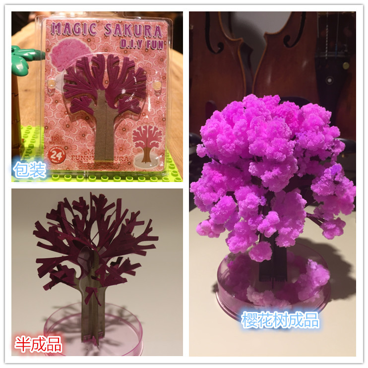1pcs The Magic Growth Tree Magic Growing Paper Sakura 12*12cm 50g Funny Kids Gift Science Education For Learning