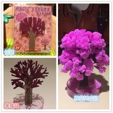 1pcs the magic growth tree magic growing paper sakura 12 12cm 50g funny kids gift science