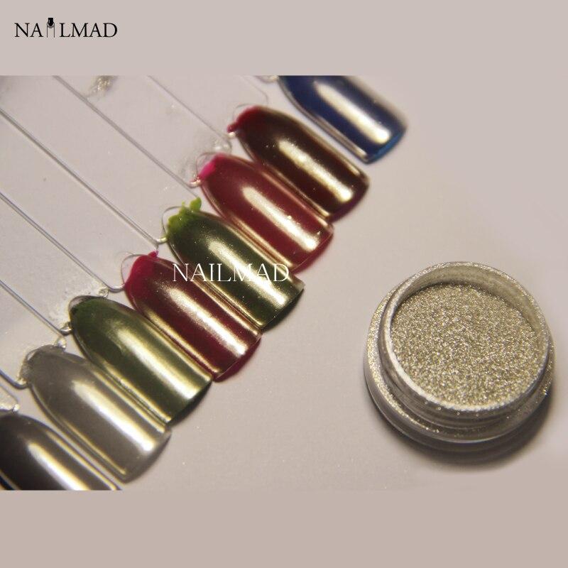 1g Mirror Powder Gold Pigment Ultrafine Powder Aluminium Powder Chrome Pigment Nail Glitters Nail Sequins NailMAD Chrome Pigment