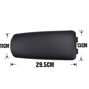 Image 3 - Car Armrest Latch Lid For Seat Exeo Center Console Cover Center Clip Catch PU Leather Arm Rest Cap Auto Accessories