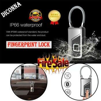 Mini Smart Vingerafdruk USB Oplaadbare Rugzak Koffer Smart Lock Anti Diefstal-in Elektrisch slot van Veiligheid en bescherming op