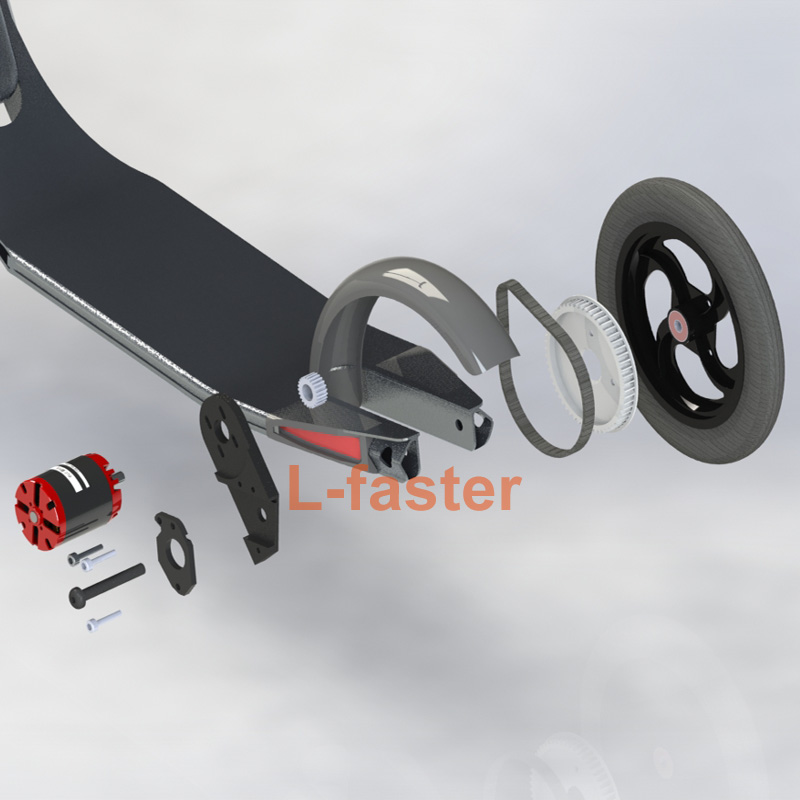 Homemade TOWN 9 Scooter Electric Drive Kit DIY Kickscooter with Belt Drive Most Light Electric Scooter Drive Device Of TOWN 9 EF ru aliexpress com мотоутка