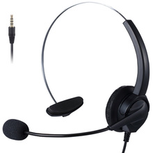 3.5mm Plug Mono Call Center Office Headset with Mic Customer Service Noise Reduction Headphone For Online Conference