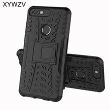 Na telefony komórkowe dla Coque Huawei Y7 Prime 2018 przypadku odporny na wstrząsy twardy na telefon z silikonu PC etui na Huawei Honor 7C pokrywa dla Huawei Y7 Prime 2018