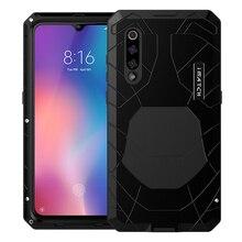 ForXiaomi9 9 T coque téléphone dure en aluminium métal verre trempé protecteur décran couverture complète couverture de Protection robuste