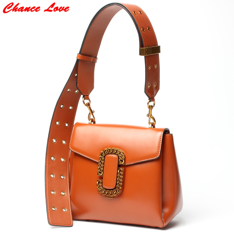 ФОТО Chance Love 2017 Women Shoulder Bags Hard Split Leathe European and American Style C*C Channel High Quality Hasp Open Bags New