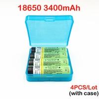 18650 3400mah Battery Original Turmera NCR18650B 3400mah 3.7V Rechargeable Battery For Flashlights 18650 3400mah with case