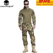 EMERSONGEAR Airsoft G2 BDU Hunting Clothes Combat Shirt Pants with Elbow Knee Pads Tactical Military Hunting Uniform MR EM6925
