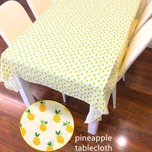 160x200cm Pineapple Tablecloth Dining Room Kitchen Rectangular Table Cover home party Decor