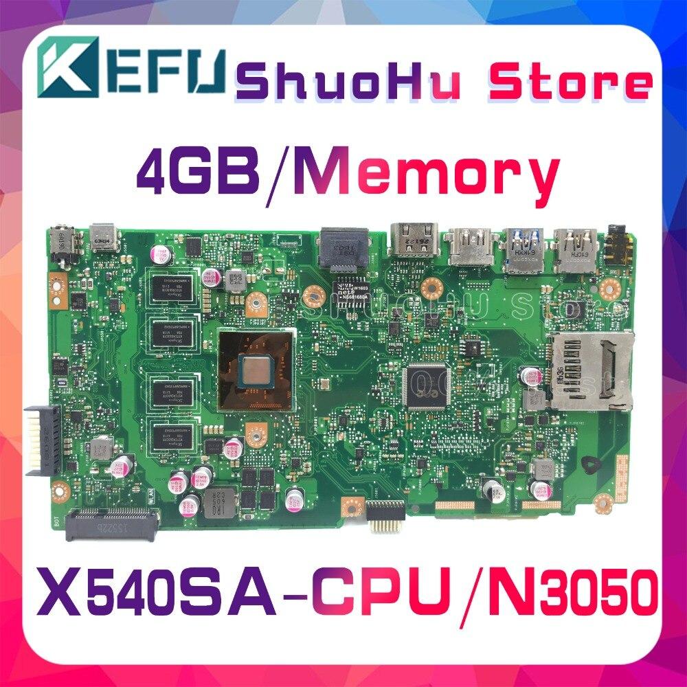 KEFU For ASUS X540SA X540S F540S CPU/N3050 4GB/Memory Laptop Motherboard Tested 100% Work Original Mainboard