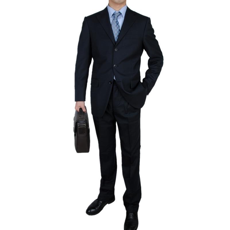 US $46.99 43% OFF|(Jackets+Pants+Ties) Men Business Suit Sets Slim Fit  Tuxedo Dress Suits Brand Design Cotton Plus Size Wedding Formal Suits  F1069-in ...