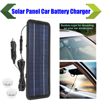 4.5W 12V Portable Boat Car Solar Panel Trickle Battery Charger USB Outdoor Power Single Crystal Silicon Lightweight Safe Protect