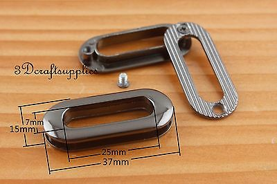 eyelets metal with washer grommets gunmetal oval 8 pieces 25 mm CK80