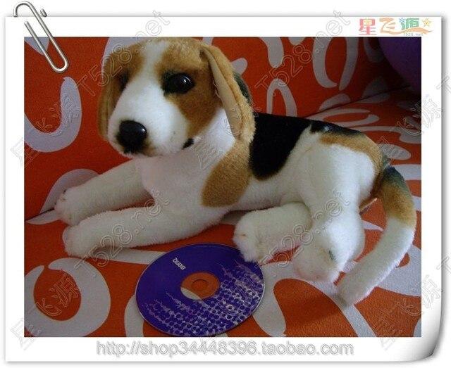 about 30cm simulation prone beagle dog plush toy christmas gift birthday gift h566 - Christmas Beagle