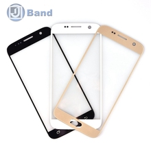 10pcs/lot For Samsung Galaxy S7 G930 Front Outer Screen Glass Lens Cover Replacement Parts White Gold Black Dark Blue