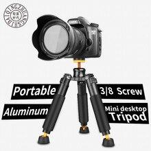 QZSD Q178 Portable Tripod SLR Single Micro Camera Desktop Mini Tripod Support Frame Load 3kg 90mm-245mm for Canon Nikon Sony