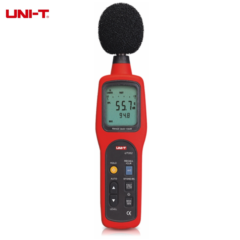 UNI-T UT352 Digital Sound Level Meter 30~130dB Noise Monitor Testers High Alarm Data Logging цена и фото