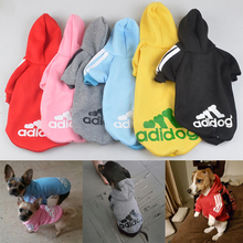 2016 New Autumn Pet Products 100% Cotton Dog Clothes Pets Coats Soft Cotton Puppy Dog Clothes For Dog 6 Colors Free Shipping