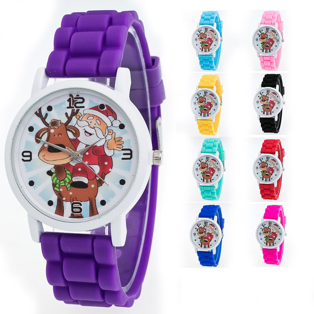 New Christmas Gifts Children Color Fashion Watch Silicone Strap Wrist Watch Vogue Boys Girls Casual Bracelet orologio donna A60