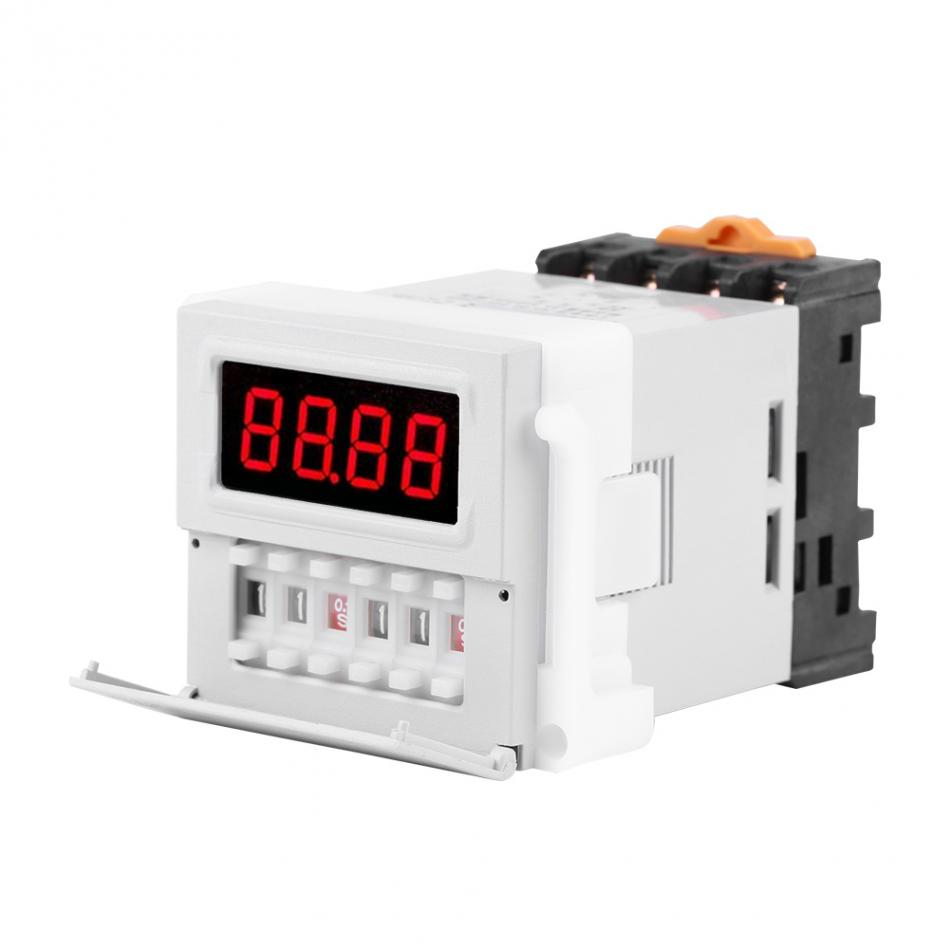 1PC AC/DC 24-240V Digital Cycle Time Timer Switch Delay Relay 0.1S-99H ZYS48-S White dc 12v led display digital delay timer control switch module plc automation new