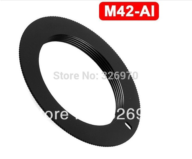 FREE SHIPPING M42 Lens TO FOR NIKON AI Adapter D3000 D5000 D90 D700 D300S D60 D3X Metal M42-AI