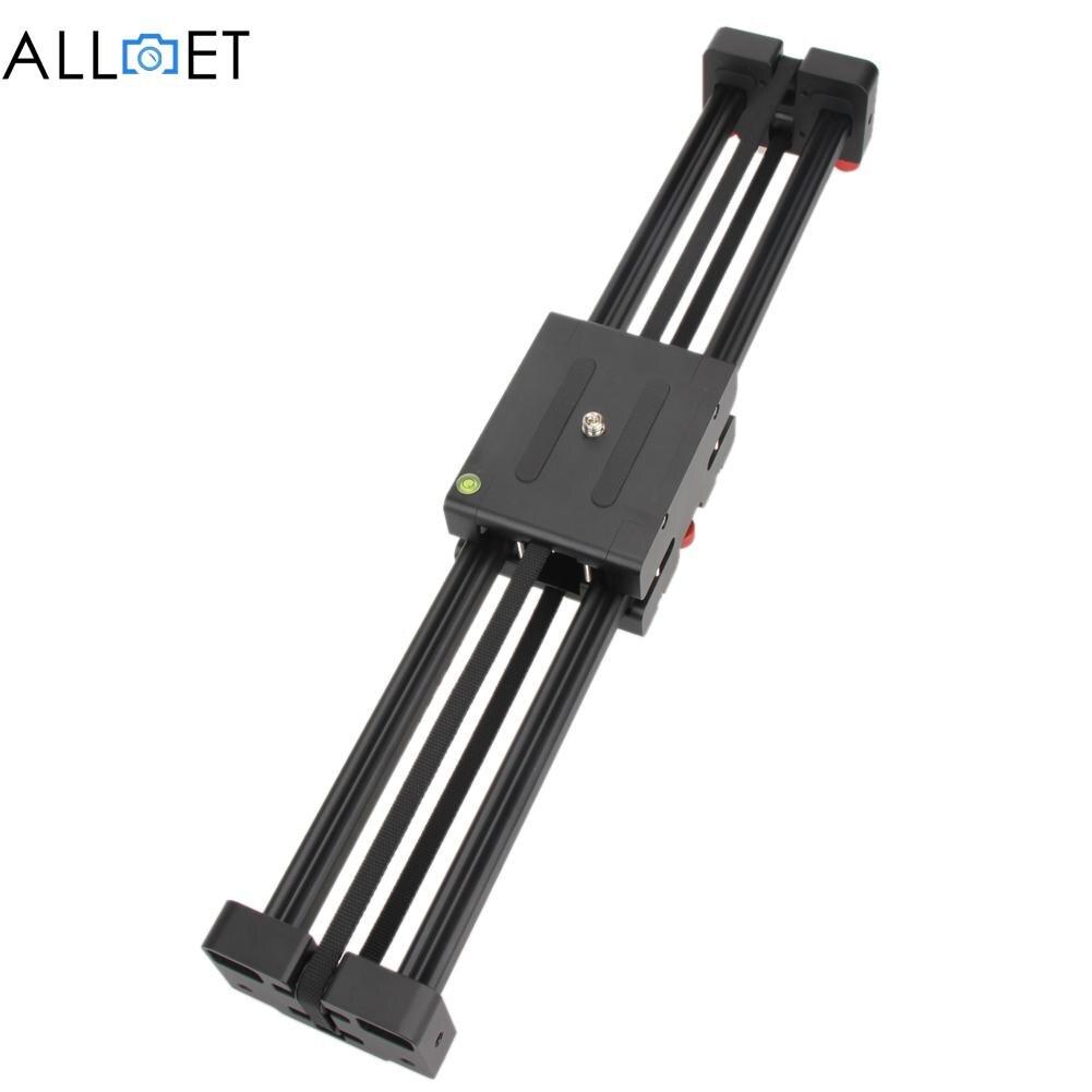 Black DSLR Camera Video Slider Dolly 50cm Track Rail Stabilizer 100cm Sliding Distance for Canon Nikon