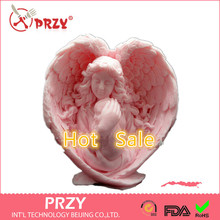 3D Silicone Soap/candle Mold   Mother Angel Holds Her Baby Tight   2 Parts Assembled Mold Handmade Soap Mold Moulds Form of Cake