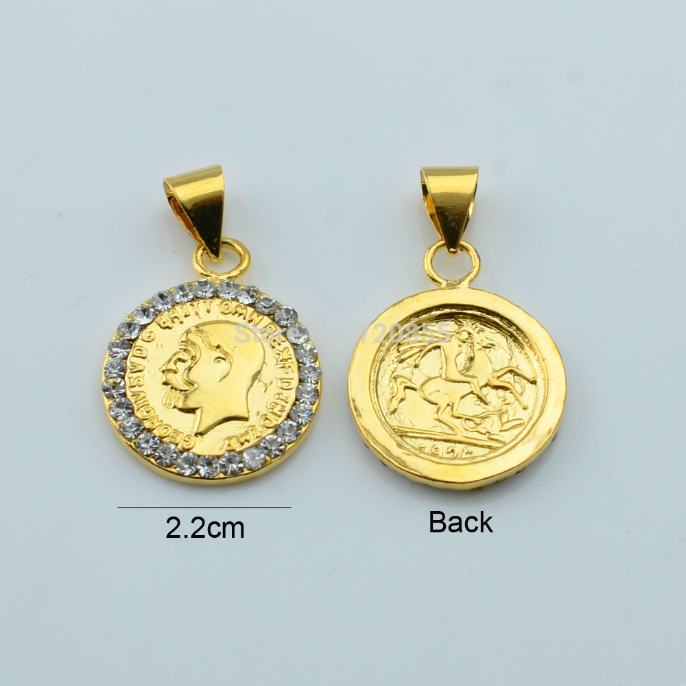killing gold set anniyo arab george in pedant item earrings with coin ethiopian from accessories sets metal or and jewelry x coins necklaces on dragon color for women chain saint pendant
