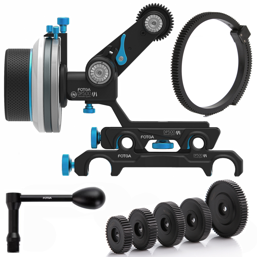 FOTGA DP500III QR A/B Follow Focus 15mm/19mm Rod Rig Arm Kit for A7RII A7RS BMCC C300 BMPCC GH4