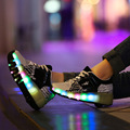 Children Glowing Sneakers Kids Roller Skate Shoes with Wheels Led Light up Glowing Shoes for Boy Girls zapatillas hombre