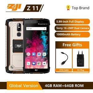 "Image 1 - HOMTOM ZOJI Z11 IP68 Wasserdicht Staub Proof 10000 mAh Smartphone 4 GB 64 GB Octa Core Handy 5,99"" 18:9 gesicht ID 4G Handy"