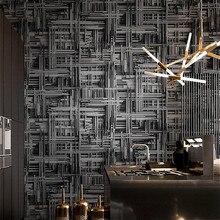 Черный серебристый, белый металлик абстрактная 3d стереоскопическая настенная бумага Современная Геометрическая виниловая настенная бумага для гостиной спальни фон