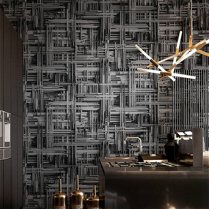 Black Silver,White Metallic Abstract 3d stereoscopic Wallpaper Modern Geometric Vinyl Wall Paper Living room Bedroom background 3d wallpaper for living room home improvement modern wallpaper background wall painting mural silk paper abstract tunnel space